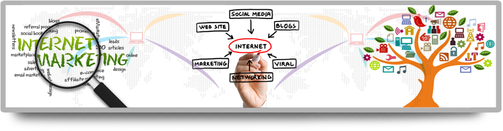 Collage About Internet Marketing